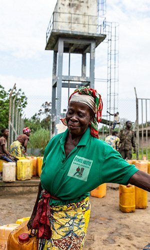 Access to drinking water in Congo