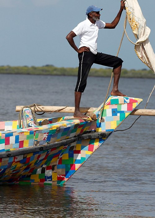 WORLD-CLEANUP/KENYA-BOAT