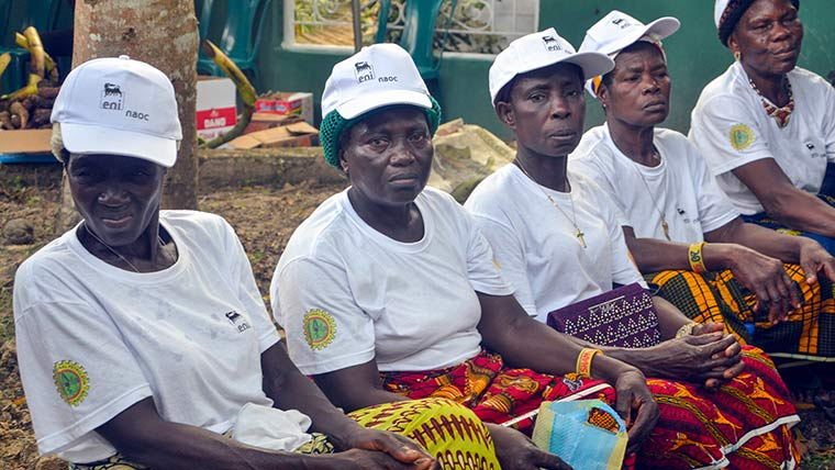 A group of women farmers empowered by GRP
