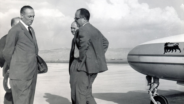 Enrico Mattei setting off from Catania for Palermo (18 October, 1962)
