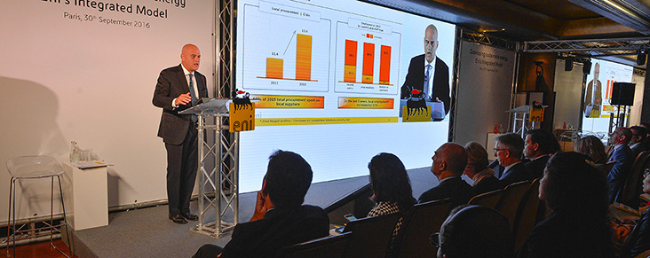 Eni's response to the dual challenge facing the energy sector