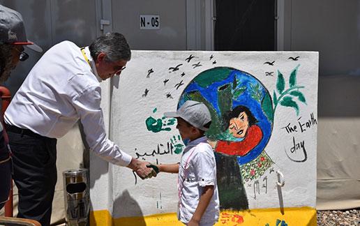 Eni Iraq: the The T-walls that unite