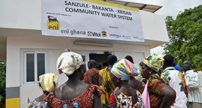 Solar powered water project launched by Eni Ghana in Sanzule