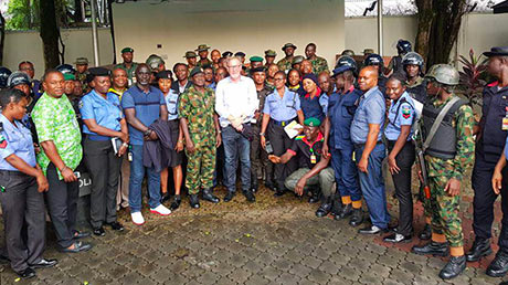 A workshop on Security and Human Rights for Nigerian security forces