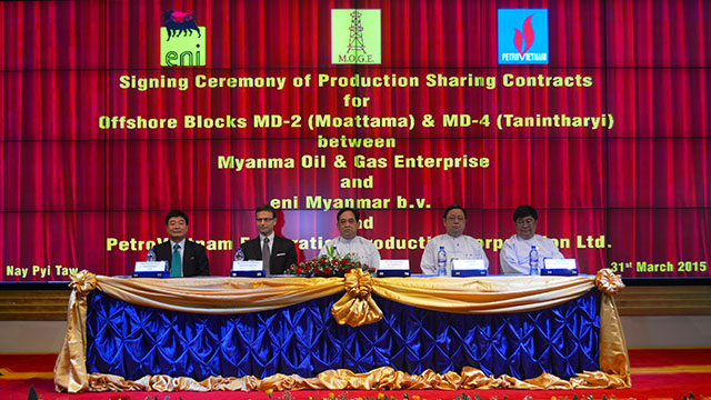 Eni's activities in Myanmar